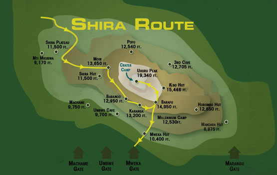 Shira Route Map